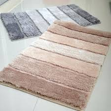 Bathroom Floor Mats Rugs Non Slip Bath Rug Oversized Bath Rug Gray Contemporary Bath Mats