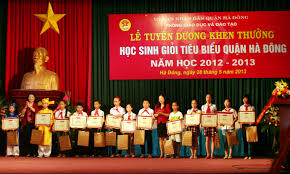 Dan K Hen Lễ Tuyên Dương Khen Thưởng Học Sinh Giỏi Tiêu Biểu Quận Hà đông