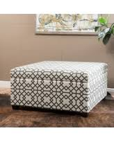ottoman with patterned fabric spectacular deal on estee gray geometric patterned fabric storage