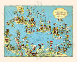 Map Of The Virgin Islands Pictorial Map Of Panama Canal Zone Puerto Rico Virgin