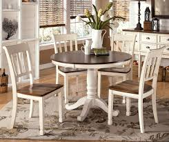 interior chic rustic white dining table with brown table top