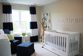Boy Nursery Decorations Beautiful White Wood Baby Boy Nursery Ideas With Black And White