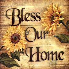 blessings home decor bless our home sunflower blessings wall floral country art kitchen