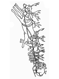santa claus sleigh coloring pages themanya