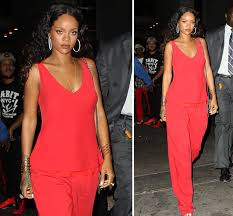 rihanna jumpsuit rihanna looks ravishing in jumpsuit for fashion week event