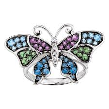 rings butterfly images Gemstone butterfly ring 14k ben bridge jeweler jpg