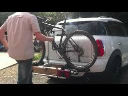 porta mini auto mini countryman bike rack fitting removal