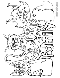 cat family coloring pages hellokids com