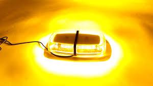 amber mini light bar night video 72 smd led amber mini work roof light bar beacon roof