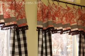 Toile Cafe Curtains Curtain And White Kitchen Curtains And Black Kitchen