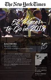 52 places to go in 2017 light city puts baltimore on the map as nyt s 52 places to go in