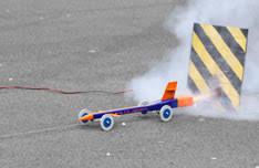 fastest model fastest rocket powered model car students sets record