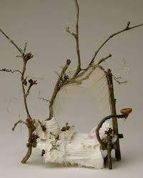 fairy bed make fairy garden furniture using twigs bed frames mattress and