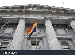 Outside Flag Bisexual Transgender Pride Flag Stock Photo 45839719