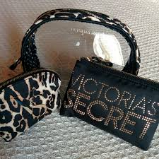 victoria 39 s secret cosmetic bag leopard