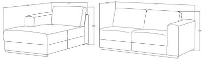 dimension canapé angle canapé d angle contemporain en tissu gris clair angle à gauche road
