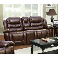 Reclining Sofa With Console by Loveseat Double Rocker Reclining Loveseat With Console Leather