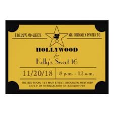hollywood red carpet sweet 16 invitations u0026 announcements zazzle