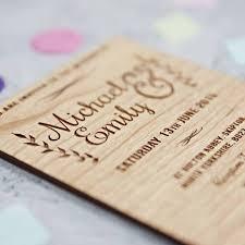 wooden wedding invitations wedding ideas