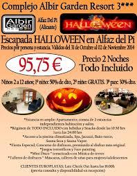 halloween pi oferta escapada halloween en alicante en complejo albir garden