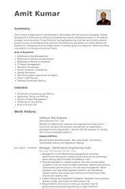Software Testing Resume Samples Download Performance Test Engineer Sample Resume