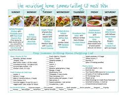 List Of Easy Dinner Ideas Easy 7 Day Summer Grilling Meal Plan Keeper Of The Home