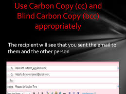 How Does Blind Carbon Copy Work Use The Subject Field To Indicate The Purpose Of The Ppt Download