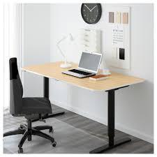 Ikea Adjustable Standing Desk by Bekant Desk Sit Stand Birch Veneer Black 160x80 Cm Ikea