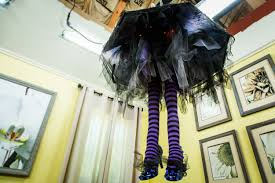 Halloween Chandeliers How To Diy Witch Leg Chandelier Home U0026 Family Hallmark Channel