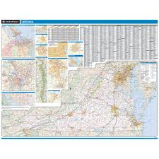 Virginia State Map With Cities by Rand Mcnally Virginia State Wall Map