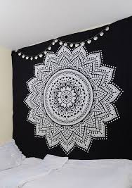 black and white tapestry dreamcatcher tapestry wall hanging black white wall hanging tapestry by rawyalcrafts 100 cotton indian mandala tapestry bohemian