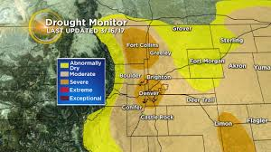 Colorado Drought Map by Severe Drought Conditions Expand Into Denver Fort Collins Cbs