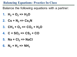 balancing equations worksheet template six types of chemical