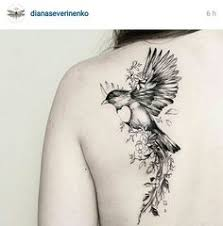 amazing hummingbird and flower tattoos on shoulder for