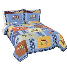 Truck Bedding Sets Construction Truck Bedding For Boys Size 3pc Quilt