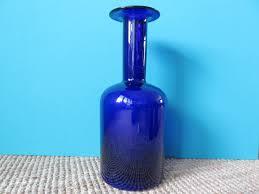 Bauer Vase Blue Vases By Otto Bauer For Kastrup Holmegaard Set Of 3 For Sale
