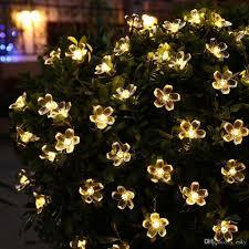 christmas tree flower lights solar christmas flower fairy string lights 21ft 50 led blossom