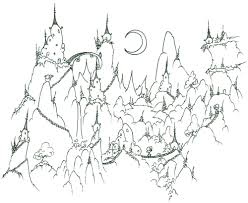 coloring page a monkey village in the mountains bluebison net