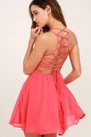 pink dress dress lace up dress backless dress 44 00