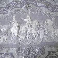Antique Lace Curtains Niforos Antique Lace Linens Textiles Antique Linens
