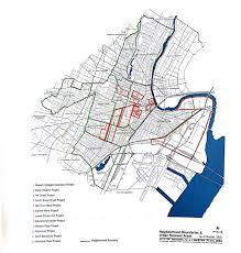 Newark Map Urban Renewal The North Newark