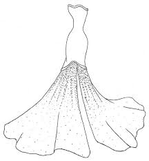 printable wedding dress coloring pages coloring tone