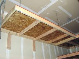 make your own hanging l building overhead garage storage shelves build your own overhead