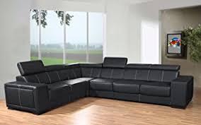 canap d angle semi cuir canapé d angle 6 places caaria noir simili cuir moderne avec
