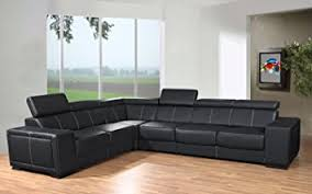 canapé d angle en simili cuir canapé d angle 6 places caaria noir simili cuir moderne avec