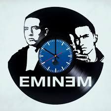 eminem beautiful handmade vinyl record wall clock vinyl clocks