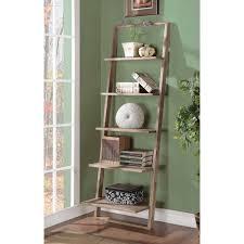 Leaning Bookshelf With Desk Leaning Ladder Shelves Home U2013 Tiles