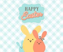 happy easter bunnies vector art u0026 graphics freevector com