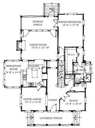 House Plans With Screened Porch Colonial Style House Plan 5 Beds 3 50 Baths 2727 Sq Ft Plan 464 11