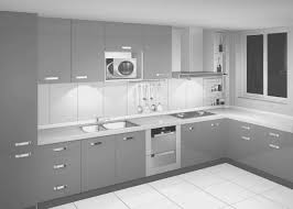 monochrome home decor kitchen simple light grey cabinets in kitchen home decor